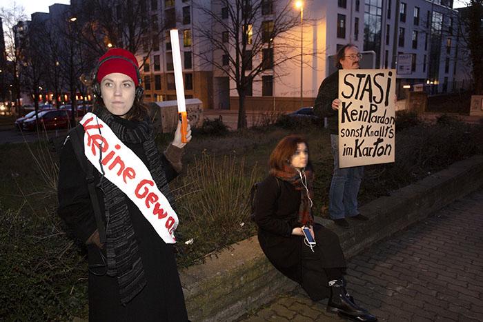 Foto von Teilnehmende beim Audiowalk REDEN vs SCHWEIGEN am 15. Januar 2020