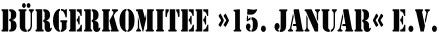 Das Logo vom Aufarbeitungsverein Bürgerkomitee 15. Januar e.V,