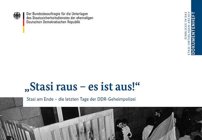 """Ein Screenshot von dem Dokumentenheft """"Stasi raus - es ist aus!"""""""